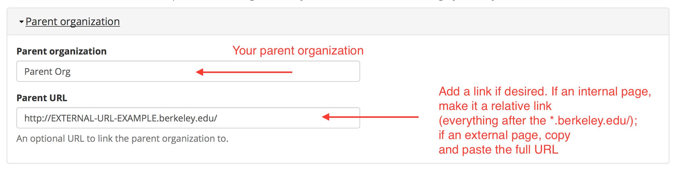 berkeley brand open berkeley how to configure the legacy parent organization display