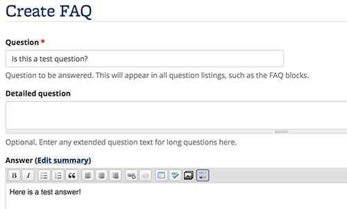 Create FAQs   Open Berkeley